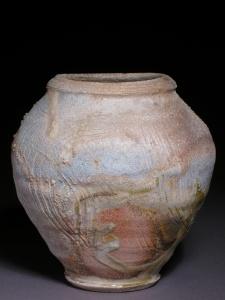 anagama fired stoneware jar