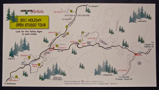 Cobb Mountain Artists Holiday Open Studio Tour Map