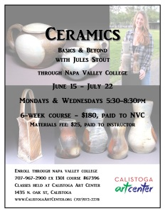 Summer Ceramics at CAC Flier