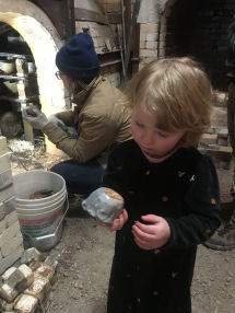 Cassidy's Inspects her first Woodfired Work
